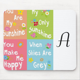 Typography Motivational Phrase - Collage Mouse Pad