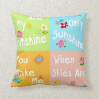 Typography Motivational Phrase – Collage Throw Pillow