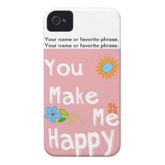 Typography motivational phrase - Pink iPhone 4 Covers