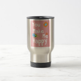 Typography Motivational Phrase - Pink Travel Mug