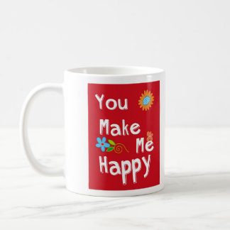 Typography Motivational Phrase - Red Coffee Mug