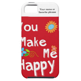 Typography Motivational Phrase - Red iPhone 5 Covers