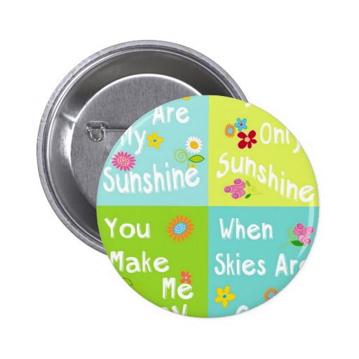 Typography Motivational Phrases - collage Pinback Button