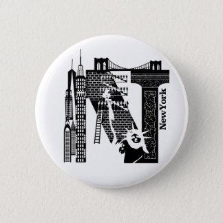 Typography N(NewYork : USA) Button