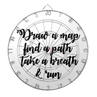 Typography Quote Life Travel Inspirational Gift Dartboard