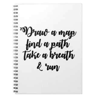 Typography Quote Life Travel Inspirational Gift Notebook