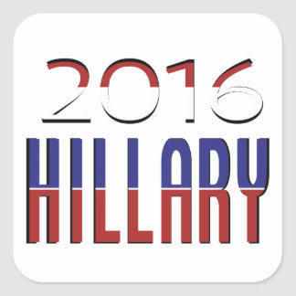 Typography Red White Blue Hillary Election 2016 Square Sticker