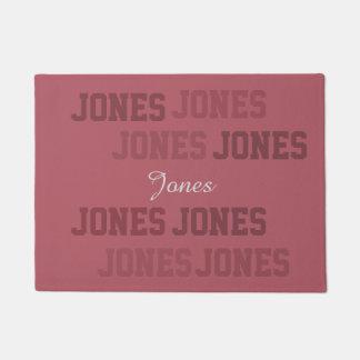 Typography Short Lastname Pink Collage Doormat