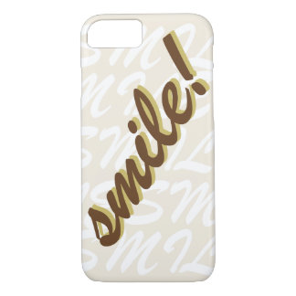 Typography Smile Brown iPhone 7 Case