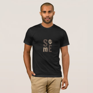 Typography Social Media Cool Latte Print T-Shirt