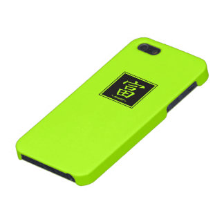 """Typography """"Wealth """" of Chinese character iPhone 5 Cover"""