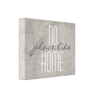 typography wrapped canvas home quote