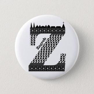 Typography Z(Zagreb: Croatia) Button