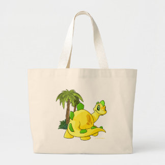 Tyrannian  yellow Chomby gazing Large Tote Bag