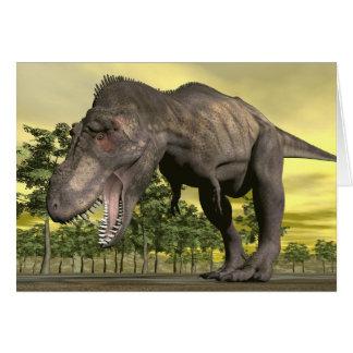 Tyrannosaurus angry - 3D render Card