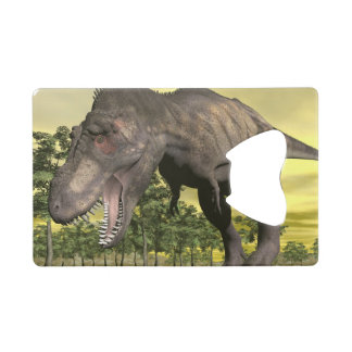 Tyrannosaurus angry - 3D render Credit Card Bottle Opener