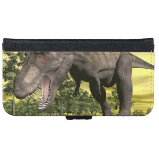 Tyrannosaurus angry - 3D render iPhone 6 Wallet Case