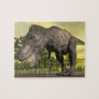 Tyrannosaurus angry - 3D render Jigsaw Puzzle