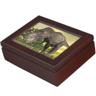 Tyrannosaurus angry - 3D render Keepsake Box