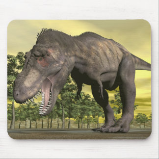Tyrannosaurus angry - 3D render Mouse Pad
