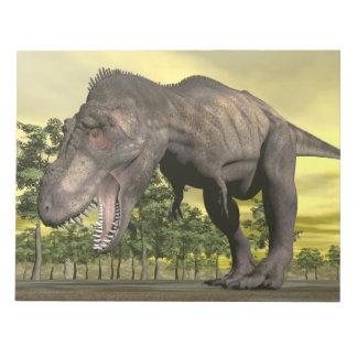 Tyrannosaurus angry - 3D render Notepad