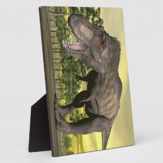 Tyrannosaurus angry - 3D render Plaque