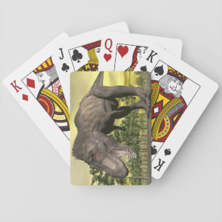Tyrannosaurus angry - 3D render Playing Cards