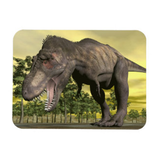 Tyrannosaurus angry - 3D render Rectangular Photo Magnet