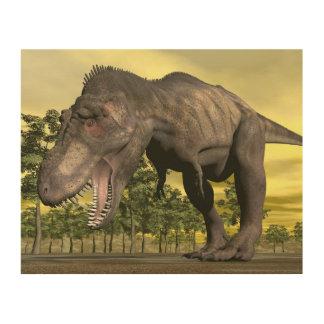 Tyrannosaurus angry - 3D render Wood Wall Decor