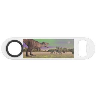 Tyrannosaurus attacking styracosaurus - 3D render Speed Bottle Opener