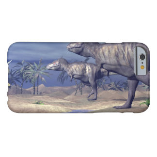 Tyrannosaurus attacking triceratops - 3D render Barely There iPhone 6 Case