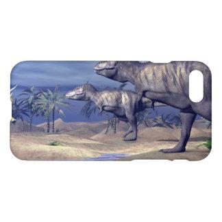 Tyrannosaurus attacking triceratops - 3D render iPhone 7 Case