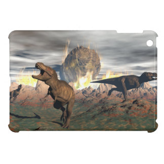Tyrannosaurus dinosaur exctinction - 3D render iPad Mini Covers
