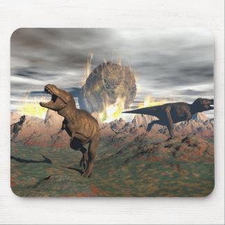 Tyrannosaurus dinosaur exctinction - 3D render Mouse Pad
