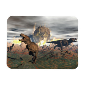 Tyrannosaurus dinosaur exctinction - 3D render Rectangular Photo Magnet