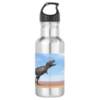 Tyrannosaurus dinosaur in the desert - 3D render 532 Ml Water Bottle