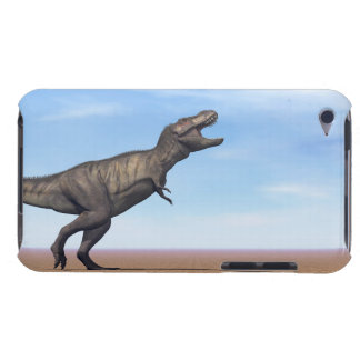 Tyrannosaurus dinosaur in the desert - 3D render Barely There iPod Covers