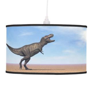 Tyrannosaurus dinosaur in the desert - 3D render Pendant Lamp