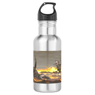 Tyrannosaurus dinosaurs exctinction - 3D render 532 Ml Water Bottle
