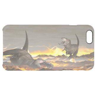 Tyrannosaurus dinosaurs exctinction - 3D render Clear iPhone 6 Plus Case