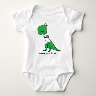 tyrannosaurus hucks baby bodysuit