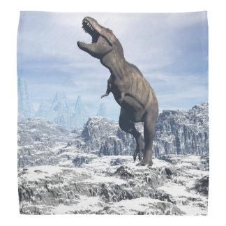 Tyrannosaurus in the snow - 3D render Bandana