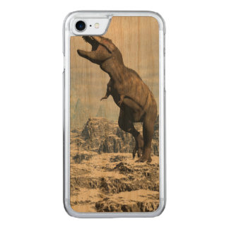 Tyrannosaurus in the snow - 3D render Carved iPhone 8/7 Case