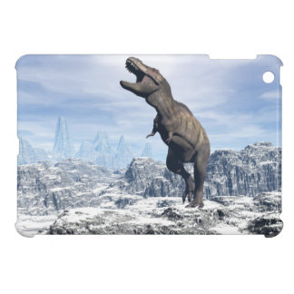 Tyrannosaurus in the snow - 3D render Case For The iPad Mini
