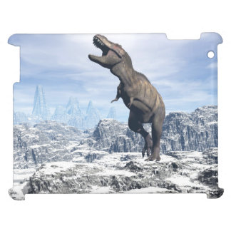 Tyrannosaurus in the snow - 3D render iPad Cover