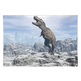 Tyrannosaurus in the snow - 3D render Placemat