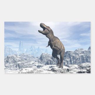 Tyrannosaurus in the snow - 3D render Sticker