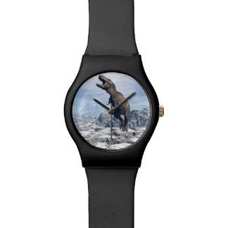 Tyrannosaurus in the snow - 3D render Watch