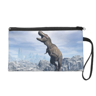 Tyrannosaurus in the snow - 3D render Wristlet