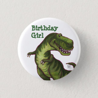 Tyrannosaurus Party Center 1 Inch Round Button
